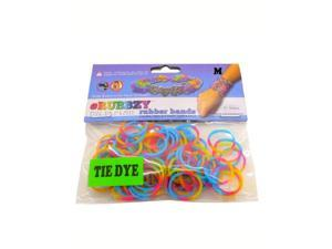 Rubbzy 100 pc Tie Dye Rubber Bands w/ 4 Connectors (#968)