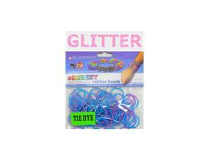 Rubbzy 100 pc Special Edition Tie Dye/Glitter Rubber Bands w/ 4 Connectors (#104)