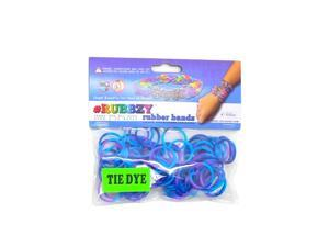 Rubbzy 100 pc Tie Dye Rubber Bands w/ 4 Connectors For all Bracelet Looms (#920)