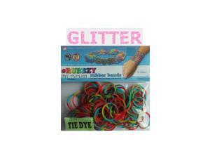 Rubbzy 100 pc Special Edition Tie Dye/Glitter Rubber Bands (#258)
