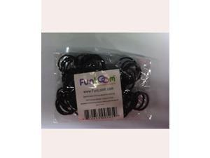 FunLoom 100 Pc Rubber Bands Refills with Super C-clips(Sparkle Black)