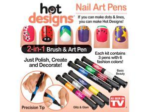 ot Designs Nail Art Pens- Combo Set (Basic Beauty and Glitz and Glam)