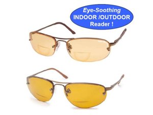 Eagle Eyes Rx Activ Indoor/Outdoor Readers- Solare Model- 2 Pack (2.0 Magnification)