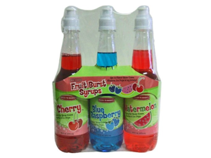 Slushie Express Syrup Fruit Burst Flavors Value Pack- 3 Pack