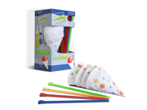 Victorio 6-Ounce Snow Cone Cups and Spoon Straws 25-Pack