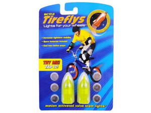 Tireflys Motion Activated Green Rockets Bicycle Valve Stem Lights (Set of 2)