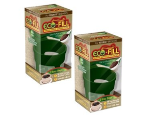 Eco-Fill Coffee Filter for Single Serve K-Cup Coffee Brewers- 2 Pack