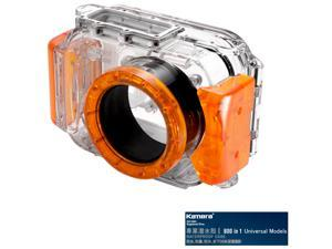 Kamera 800 in 1 Universal Underwater Diving Camera Waterproof Case Housing Shell-Orange