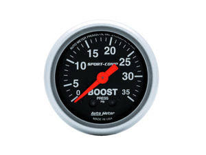 Auto Meter 3304 Sport-Comp Mechanical Boost Gauge