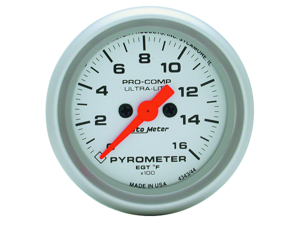 Auto Meter 4344 Ultra-Lite Electric Pyrometer Gauge Kit
