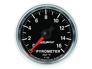 Auto Meter GS Electric Pyrometer Gauge Kit