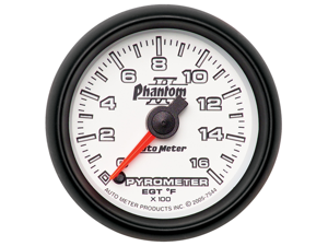 Auto Meter 7544 Phantom II Electric Pyrometer Gauge Kit