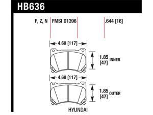 Hawk Performance HB636N.644 Disc Brake Pad
