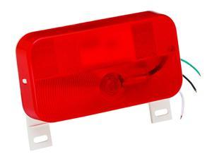 Tail Light W/License Red White