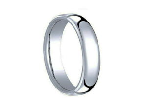 Tungsten Carbide Polished Shiny Domed Ring 5.5mm Wedding Band Ring