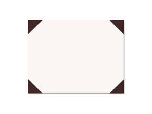 Ecotones Desk Pad, 25-Sheet Pad, 22 X 17, Moonlight Cream/Brown