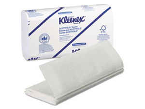 KIMBERLY-CLARK PROFESSIONAL* KLEENEX SCOTTFOLD Paper Towels, 9 2/5 x 12 2/5, White, 120/Pack, 25/Carton