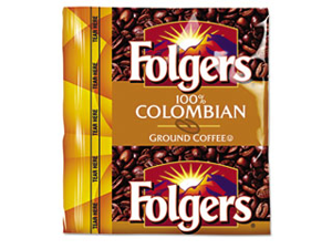 Folgers                                  Coffee Premeasured Packs, Colombian, 0.9 oz Fractional Packs, 150/Carton