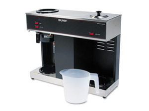 Bunn-O-Matic Corporation BUNVPS 3-Warmer Brewer- 23in.x8in.x19-.87in.- Stainless Steel-Black