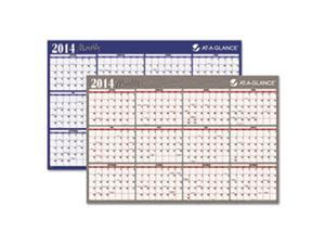 "Horizontal Erasable Wall Planner, 48"" x 32"""