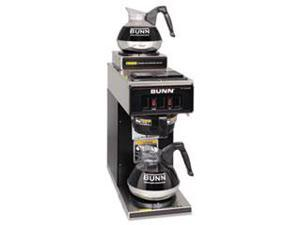 12-Cup Two-Station Commercial Pour-O-Matic Coffee Brewer, Stainless St