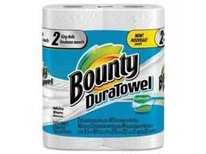 Bounty 84877, DuraTowel Paper Towels, 2-Ply, 11 x 11, 48/Roll, 24 Roll/Carton