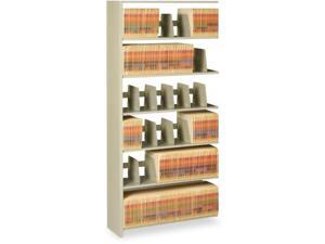 Snap-Together Seven-Shelf Closed Add-On Unit, Steel, 48W X 12D X 88H,