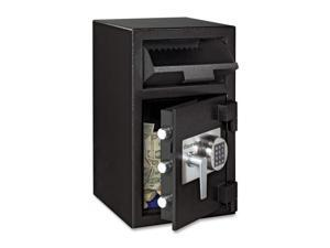 Depository Safe, 1.3 ft3, 14w x 15-3/5d x 24h, Black