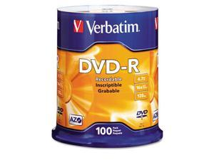 DVD-R Discs, 4.7GB, 16x, Spindle, Matte Silver, 100/Pack