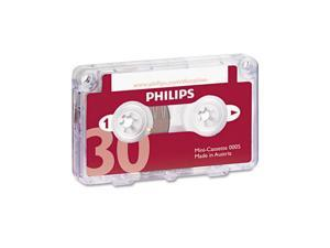 Audio & Dictation Mini Cassette, 30 Minutes (15 X 2), 10/Pack