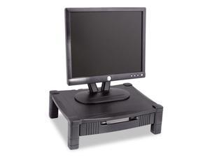 Height-Adjustable Stand with Drawer, 17 x 13 1/4 x 3 to 6 1/2, Black