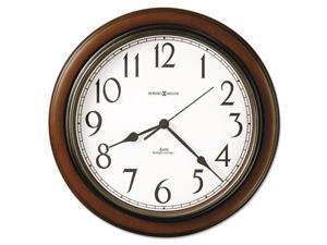 TALON Wall Clock Medium Brown Cherry Finish