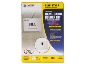C-Line Products- Inc. CLI95523 Laser-Inkjet Badge Hldr Kit- Top-Load- 2-.25in.x3-.50in.- CL