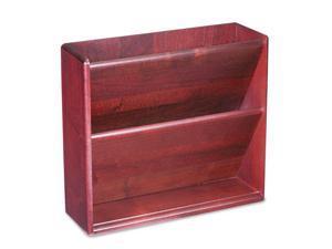 Hardwood Double Wall File, Letter, Two Pocket, Mahogany