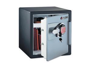 Electronic Safe, 1.2 Ft3, 16-11/32W X 19-5/16D X 17-27/32H, Black/Gunm