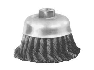 "4"" Knot Cup Brush .023Cs Wire 5/8-11"