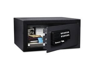 Electronic Lock/Card Swipe Security Safe, 1.1 Ft3, 18W X 16D X 9H, Bla