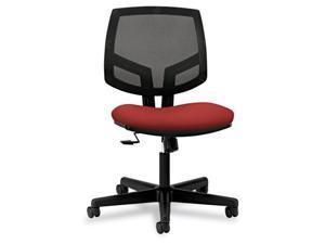 Volt Series Mesh Back Task Chair With Synchro-Tilt, Crimson Fabric