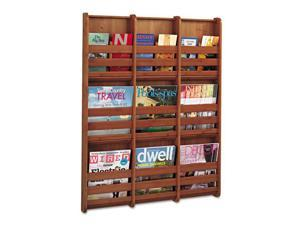 Bamboo Magazine Wall Rack 9 Pocket in Cherry by Safco