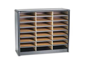 Steel/Fiberboard Literature Sorter, 24 Sections, 32 1/4 X 13 1/2 X 25