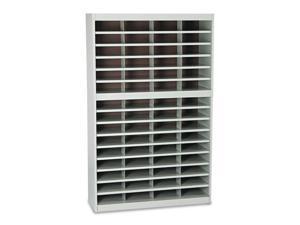 Steel/Fiberboard E-Z Stor Sorter, 60 Sections, 37 1/2 X 12 3/4 X 60, G