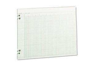 Accounting Sheets, 24 Columns, 11 X 14, 100 Loose Sheets/Pack, Green