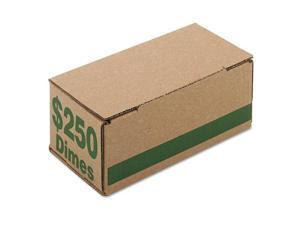 PM Company 61010 Corrugated Cardboard Coin Storage w/Denomination Printed On Side, Green