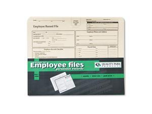 Employee Record Folder, Top Tab, Letter, Manila, 20/Pack
