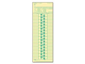 Time Card For Simplex, Semi-Monthly, 3-1/2 X 10-1/2, 500/Box