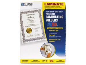 Quick Cover Laminating Folders, 12 mil, 9 1/8 x 11 1/2, 25/Pack