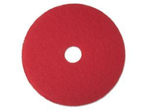 "Buffer Floor Pad 5100, 13"", Red, 5 Pads/Carton"