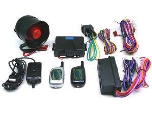 2-Way FM Car Alarm Security w/ LCD Status Display w/Remote Engine Start