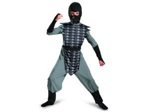 Childrens Boys Grey Gray Evil Ninja Mortal Kombat Smoke Costume Medium 7-8