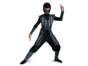Childrens Boys Black Evil Ninja Mortal Kombat Smoke Costume Medium 7-8